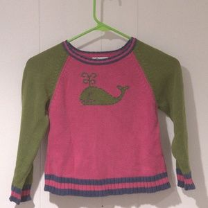 Girls Lilly Pulitzer Whale Sweater Size 6